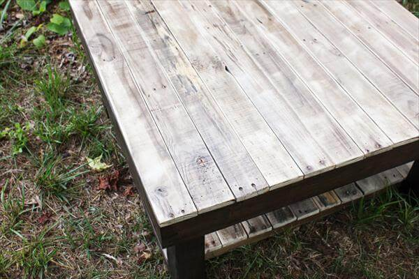 rustic yet sturdy pallet squared coffee table