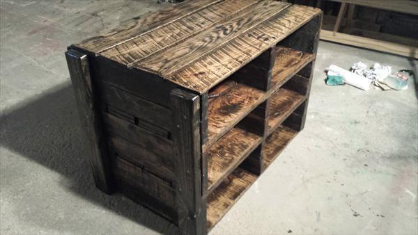 DIY Pallet Shoe Rack – Storage Unit and TV Stand   Pallet Furniture DIY