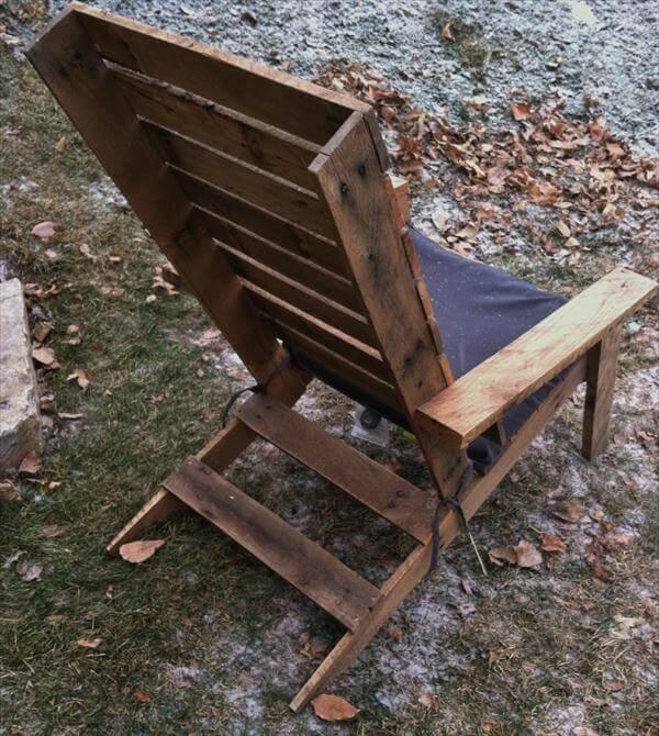 rustic yet modern pallet Adirondack chair