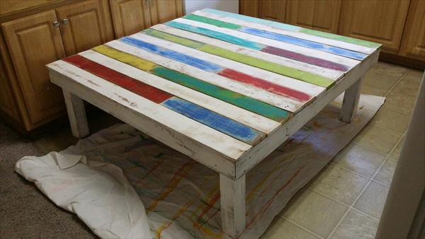upcycled pallet wide coffee table