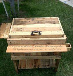 repurposed pallet ice chest