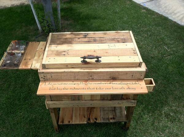 repurposed pallet ice chest