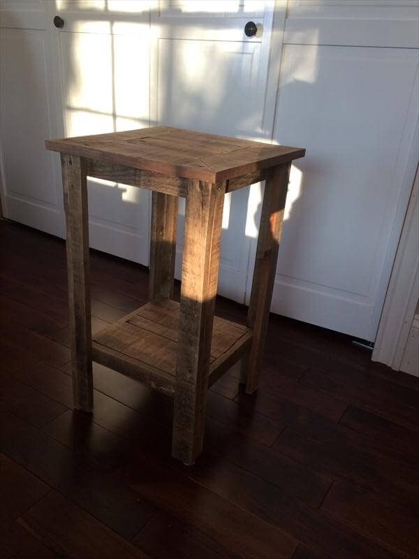 DIY Pallet Wood End Table and Nightstand | Pallet Furniture DIY