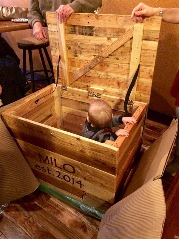 sturdy handmade pallet toy box