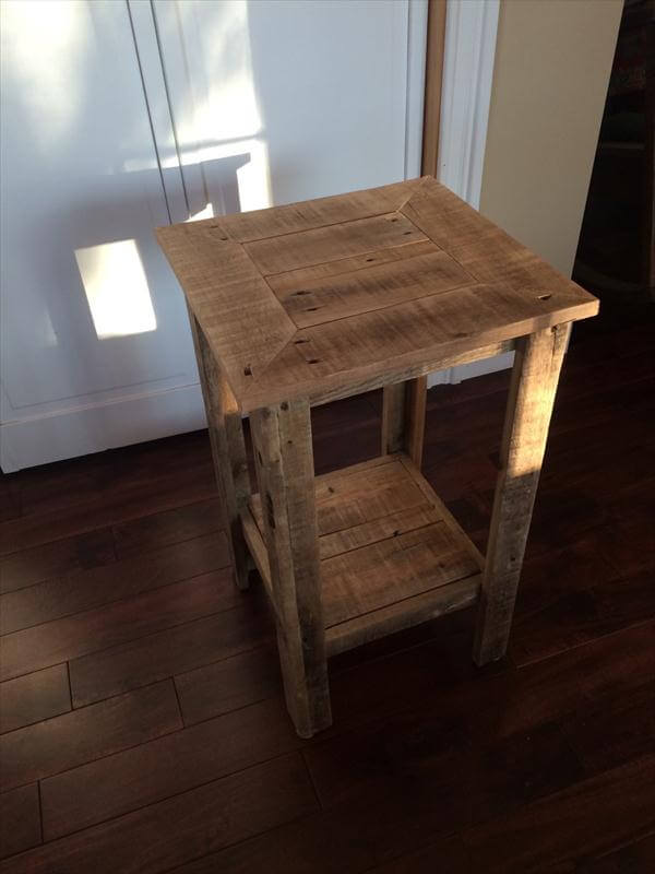 DIY Pallet Wood End Table and Nightstand | Pallet Furniture DIY