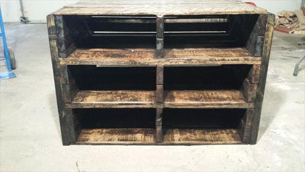 Upcycled Pallet Vintage Storage Unit And Shoes Rack
