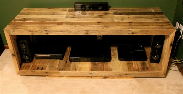 DIY Pallet Media Console TV Stand Furniture