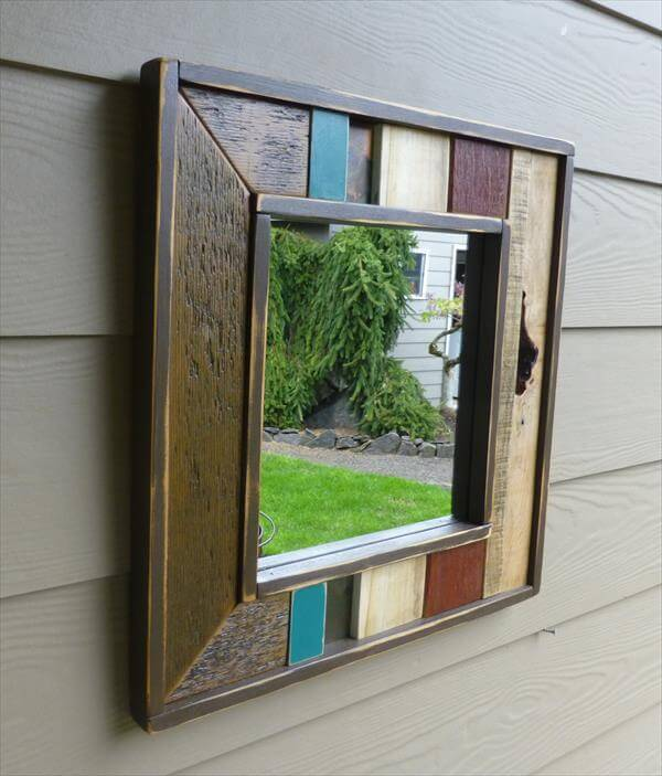 DIY Pallet Wall Mirror | Modern House Decorating Inspiration For ...