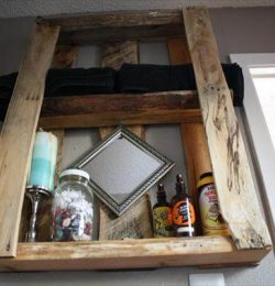 recycled pallet wall mounted shelves