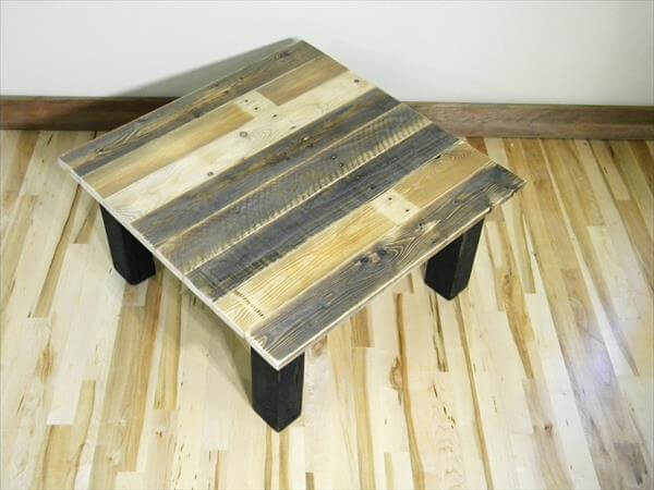reclaimed dual wood toned pallet coffee table