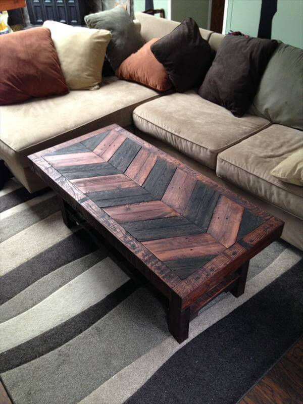 Hardwood Pallet Coffee Table Pallet Furniture Diy