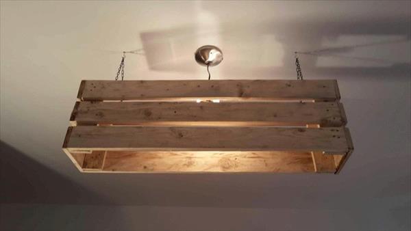 DIY Pallet Ceiling Light | Pallet Furniture DIY