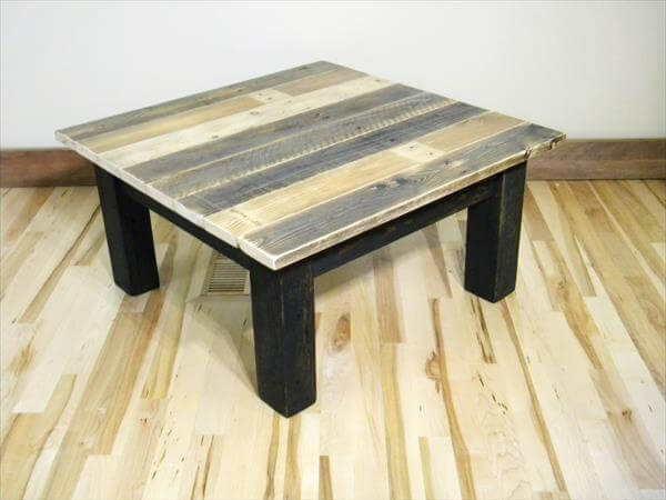 DIY Recycled Pallet Mini Coffee Table Pallet Furniture DIY