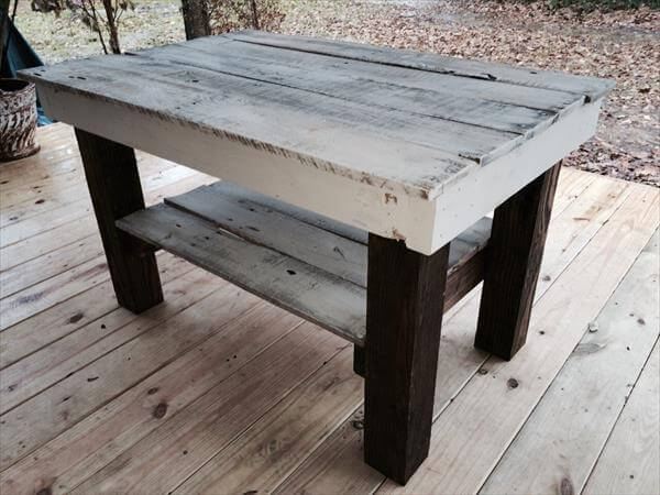DIY Pallet Black & White Coffee Table | Pallet Furniture DIY