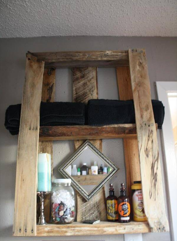 rustic pallet furniture. diy rustic pallet wall mounted shelves furniture