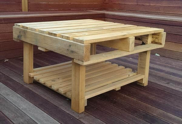 reclaimed pallet unique coffee table | pallet furniture diy