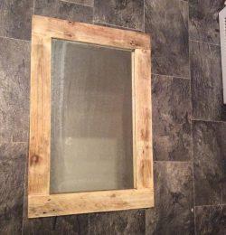 rustic wooden pallet mirror