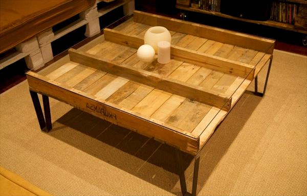 Stylish Pallet Coffee Table With Glass Top Pallet Furniture Diy