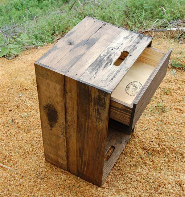 ... nightstand bedside table diy pallet bedside table and side table