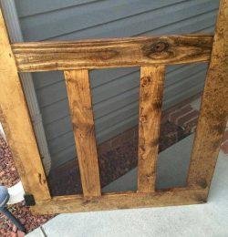 recycled pallet screen door