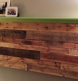 reclaimed pallet wall mounted headboard