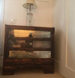 diy pallet and mirror nightstand