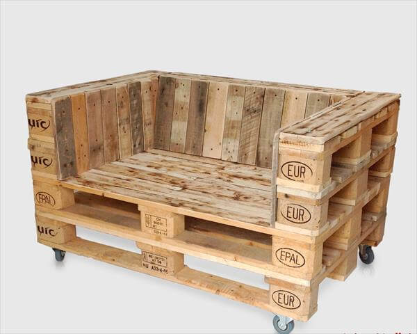 DIY Pallet Chair On Casters Furniture