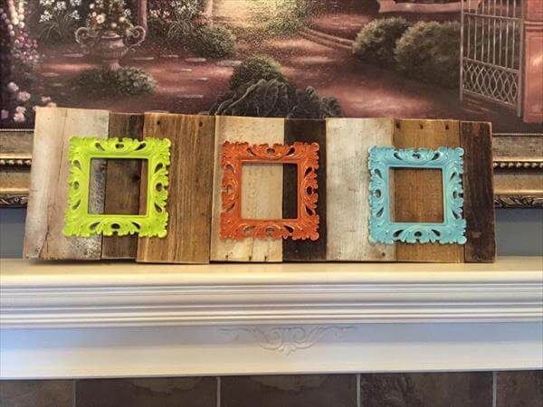 Pallet shabby chic picture frames pallet furniture diy for Pallet shabby chic