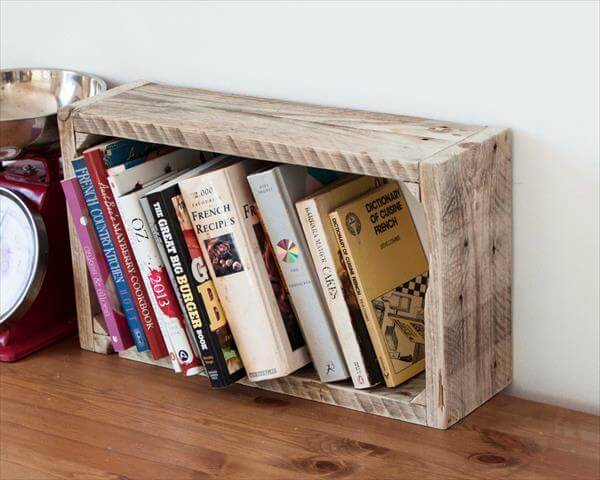 reclaimed pallet storage shelf