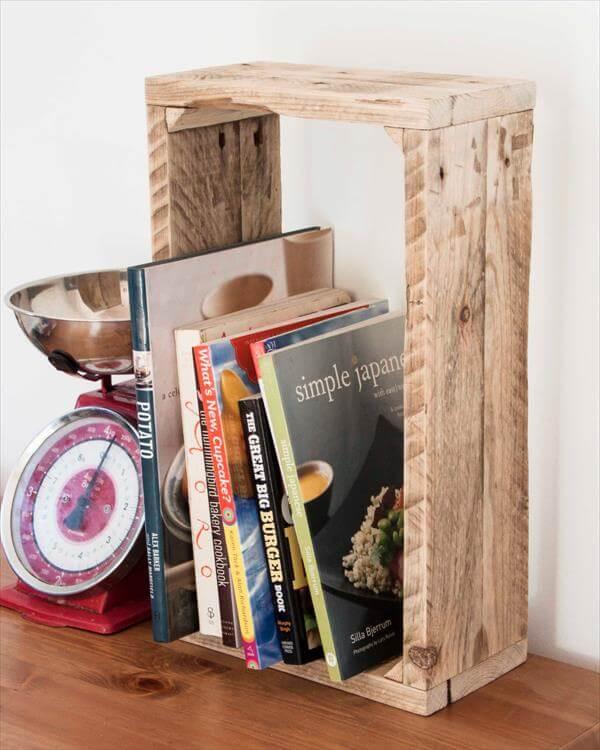 repurposed pallet storage shelf