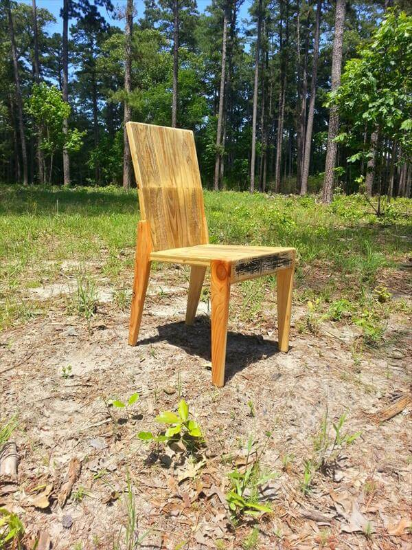 handcrafted pallet outdoor chair
