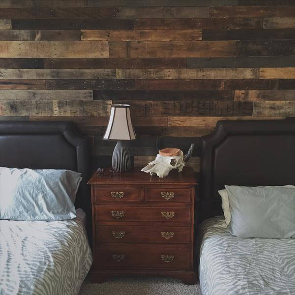 Diy Rustic Pallet Wood Wall Pallet Furniture Diy