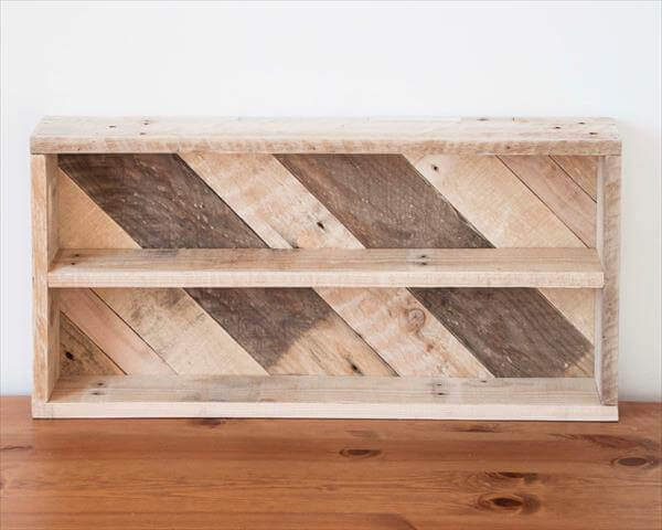upcycled wooden kitchen spice rack