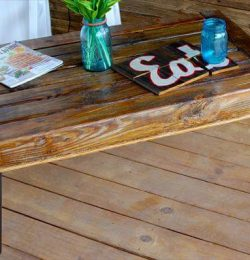 handcrafted pallet wood coffee table