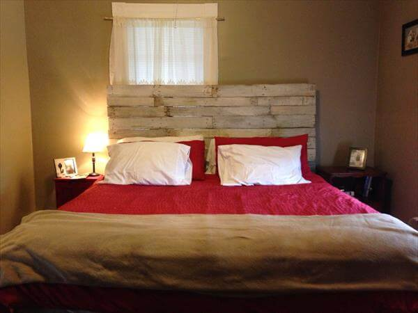 handcrafted wood pallet headboard