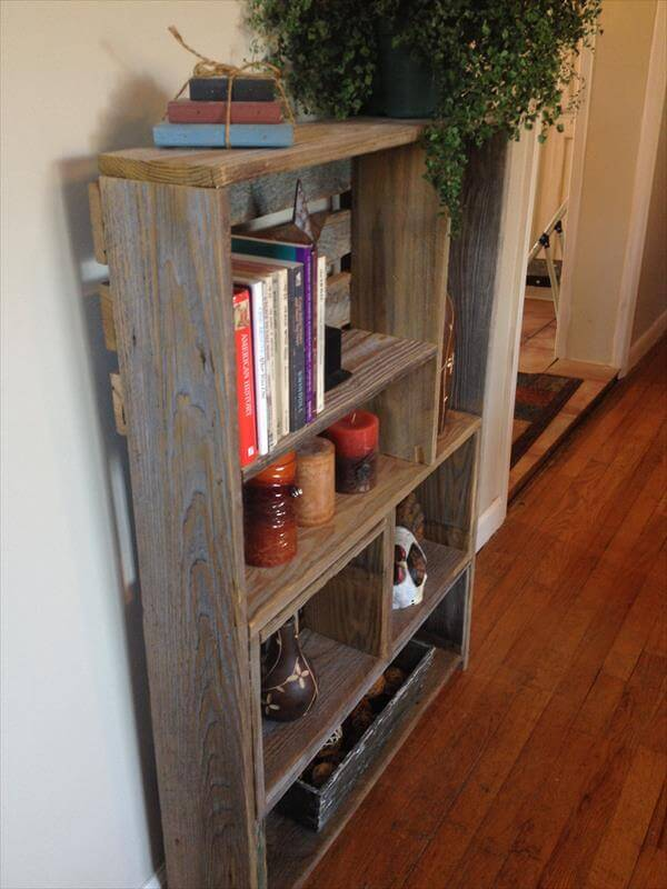 diy pallet art style shelf