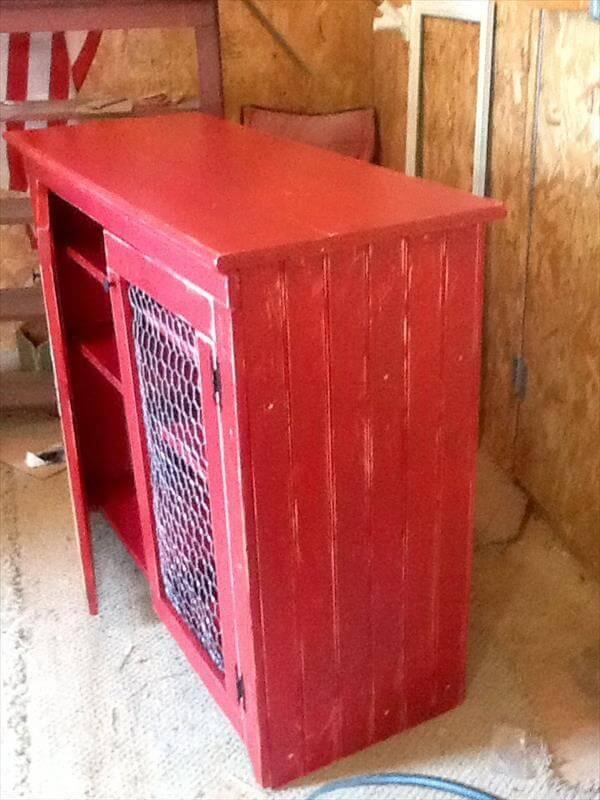 Pallet Side Board or Buffet Cabinet - Pallet Side Board Or Buffet Cabinet Pallet Furniture DIY