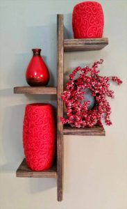 recycled pallet 4 tier shelf