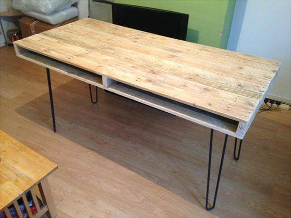 Pallet Computer Table And Office Desk Furniture DIY