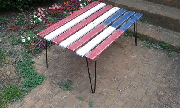 upcycled pallet flag table