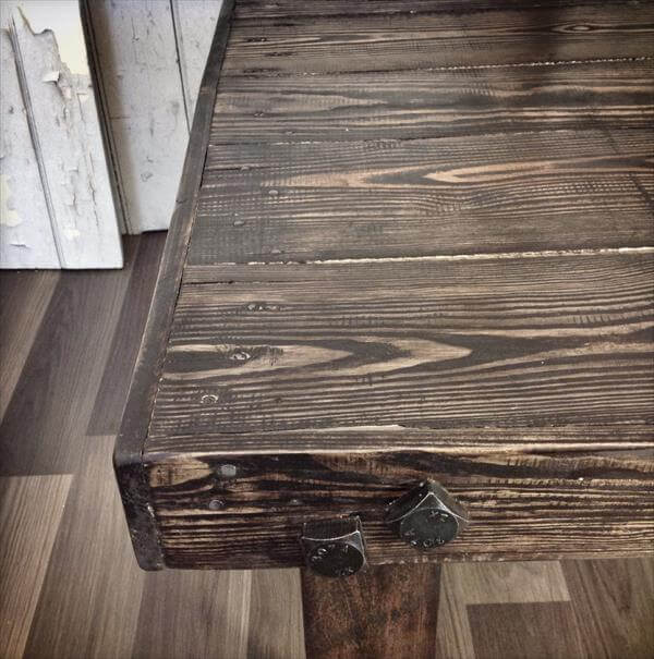 handcrafted pallet wooden coffee table