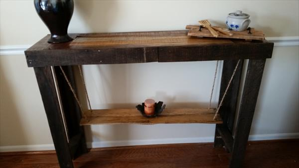diy pallet console table and sofa table
