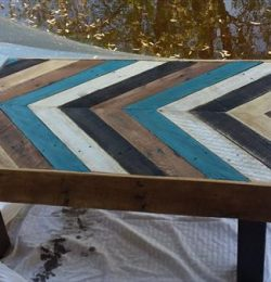 diy pallet chevron table