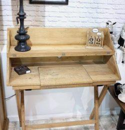 repurposed pallet campaign style study desk
