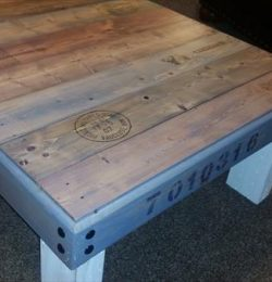 recycled pallet low coffee table