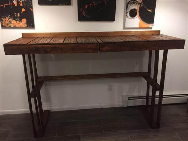 recycled pallet high top table
