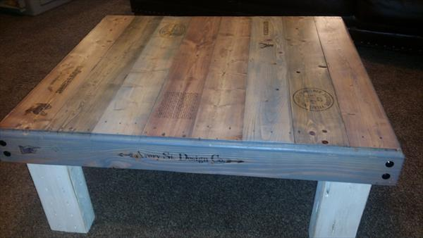 wooden pallet low pallet coffee table