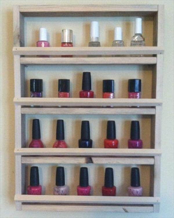 Diy Pallet Nail Polish Holder