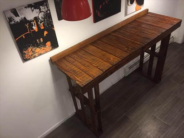 high top table made of pallets