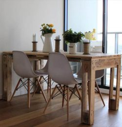 wooden pallet beefy dining table